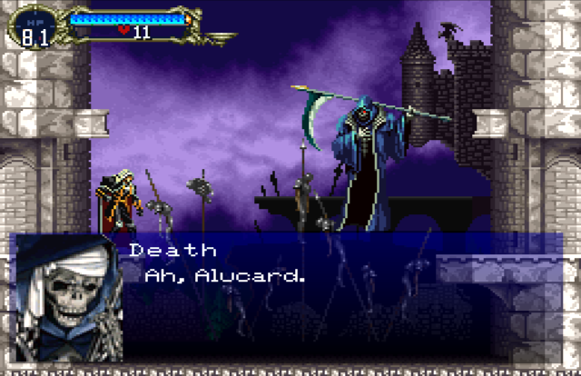 Death in Symphony of the Night