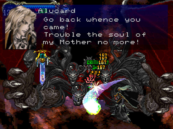 Dracula in Symphony of the Night